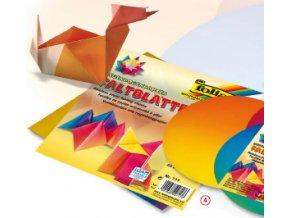 Origami papír - duhový  10x10cm