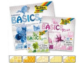 Origami papír BASICS 80g - 10x10cm - GELB