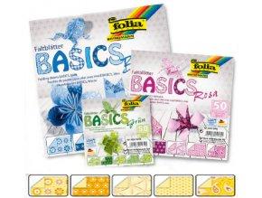 Origami papír BASICS 80g - 15x15cm - GELB