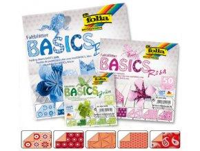 Origami papír BASICS 80g - 15x15cm - ROT