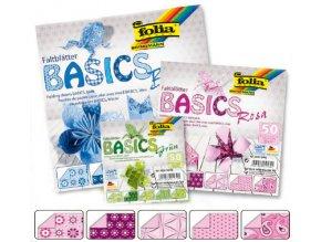 Origami papír BASICS 80g - 15x15cm - ROSA