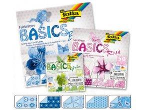 Origami papír BASICS 80g - 20x20cm - BLAU