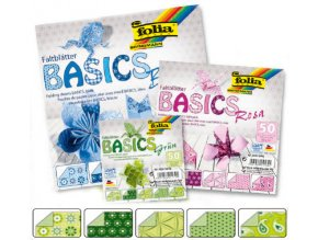 Origami papír BASICS 80g - 15x15cm - GRUN