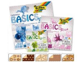 Origami papír BASICS 80g - 15x15cm - BRAUN