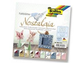 Origami papír Nostalgia 50ks, 80g - 15x15cm