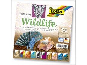 Origami papír Wildlife 50ks, 80g - 15x15cm