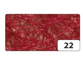 sisal 50g - červená tmavá