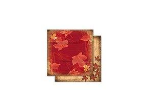 Scrapbooking papír Podzimní 30 x 30cm/190g - Motiv 04