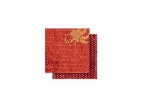 Scrapbooking papír Romantik 30 x 30cm/190g - Motiv 06