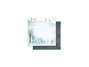 Scrapbooking papír Vánoční 30 x 30cm/190g - Motiv 08