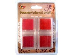 Pigmentové stínovací polštářky - červené
