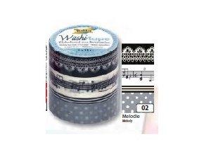 Washi páska Melodie - sada 4 ks