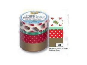 Washi páska vánoce - sada 4 ks