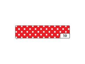 Washi lepící páska 10m x 15mm - červená puntík