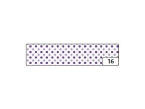 Washi lepící páska 10m x 15mm - puntík fialový