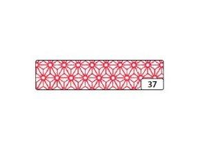 Washi lepící páska 10m x 15mm - hvězdicový ornament