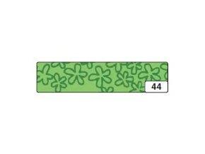 Washi lepící páska 10m x 15mm - zelená květiny