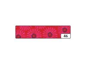 Washi lepící páska 10m x 15mm - červená květiny