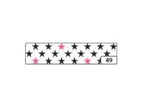 Washi lepící páska 10m x 15mm - popstar