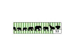 Washi lepící páska 10m x 15mm - sloni