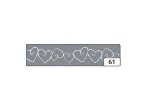 Washi lepící páska 10m x 15mm - stříbrná srdce
