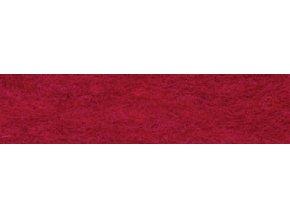 Vlna na plstění 40g - červená