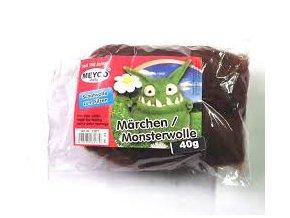Vlna na plstění 40g česaná - Monster hnědá