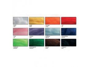 Vlna na plstění 350g česaná - sada 12 barev