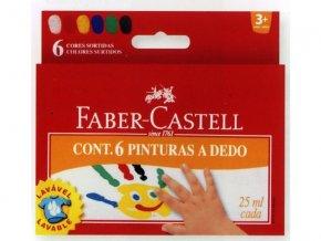 Prstové barvy 6x25 ml. v kelímku Faber-Castell