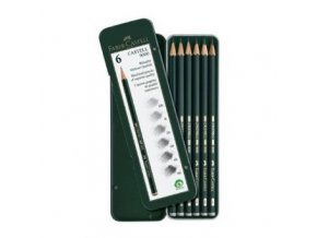 Sada 6ks grafitové tužky 9000 Faber-Castell 119063