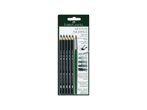 Sada 5ks akvarelové grafitové tužky Faber-Castell + štětec 117897