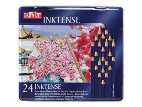 Sada 24 ks umělecká pastelka vodou rozmyvatelná v tužce Derwent INKTENSE