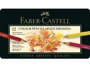 Sada 12 uměleckých pastelek Polychromos Faber-Castell