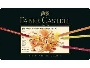 Sada 60 uměleckých pastelek Polychromos Faber-Castell