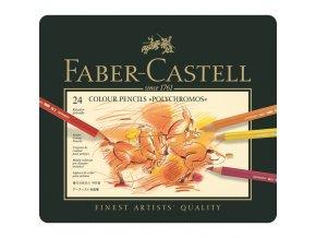 Sada 24 uměleckých pastelek Polychromos Faber-Castell