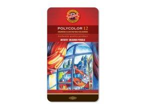Sada 12 uměleckých pastelek Polycolor Koh-i-noor
