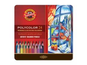 Sada 24 uměleckých pastelek, Polycolor Koh-i-noor