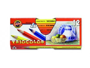 Sada 12 uměleckých pastelek Triocolor Koh-i-noor