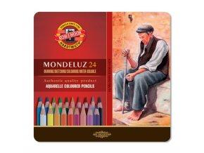 Sada 24 uměleckých akvarelových pastelek Mondeluz Koh-i-noor