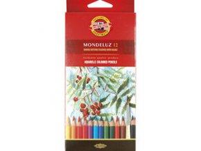 Sada 12 uměleckých akvarelových pastelek Mondeluz Koh-i-noor