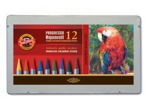 Sada 12 uměleckých akvarelových pastelek PROGRESSO Koh-i-noor