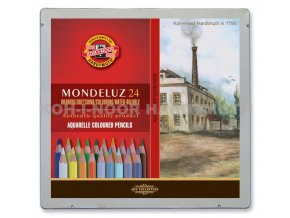 Sada 24 uměleckých akvarelových pastelek Mondeluz krajina, Koh-i-noor