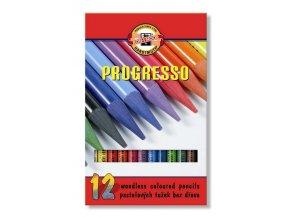 Sada 12 školních lakovaných pastelek PROGRESSO Koh-i-noor