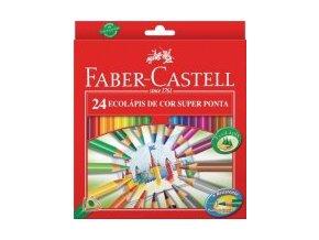 Sada 24 školních pastelek ECO tříhranné - Faber-Castell