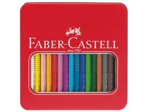 Sada 16 pastelek JUMBO GRIP - Faber-Castell v plechovém obalu