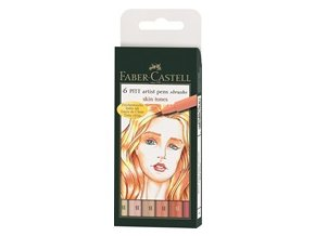 Sada tušových popisovačů PITT ARTIST PEN Faber-Castell - Skin tones