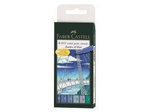 Sada tušových popisovačů PITT ARTIST PEN Faber-Castell - shades of blue
