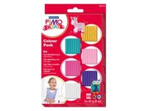 Sada modelovací hmoty FIMO KIDS Glitter 6 kusů