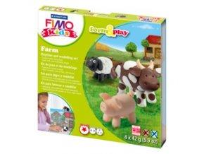 Sada modelovací hmoty FIMO KIDS Farm 4x 42g - 803401