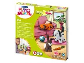 Sada modelovací hmoty FIMO KIDS Pet 4x 42g - 803402